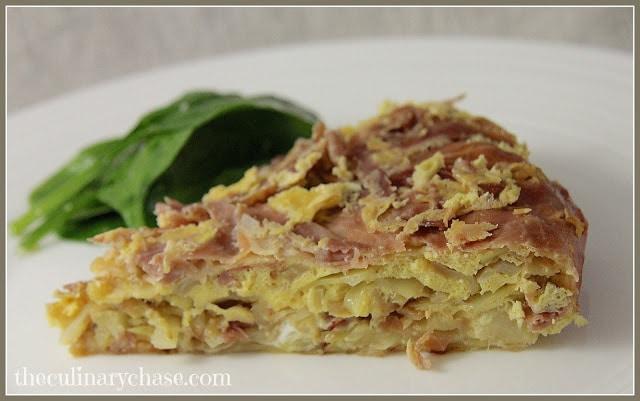 Oven-Baked Cabbage & Speck Frittata (frittata al forno con cavalo e speck)