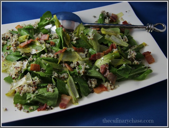 Quinoa Salad with Bacon and Lemon Vinaigrette