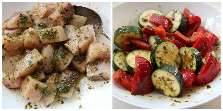 fish & veggie Collage