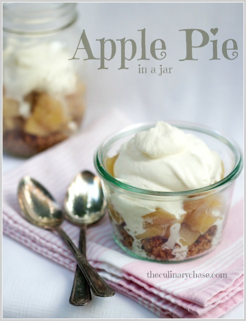 apple pie in a jar by The Culinary Chase