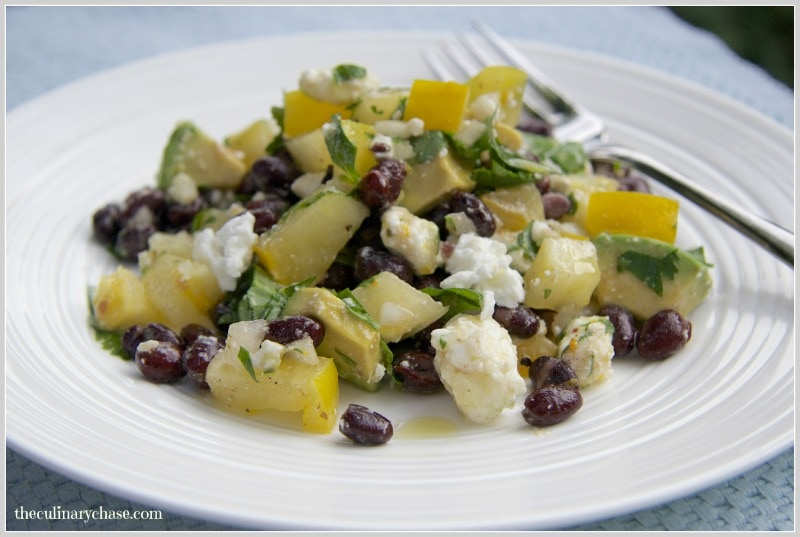 black bean salad by The Culinary Chase