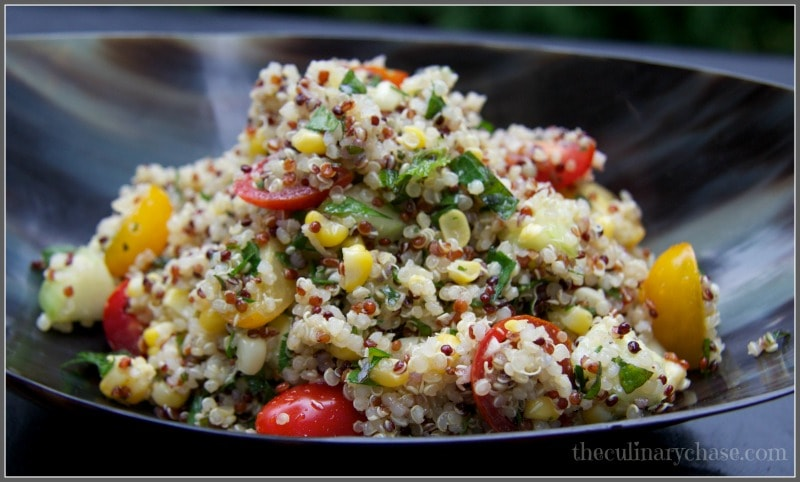 quinoa salad by The Culinary Chase