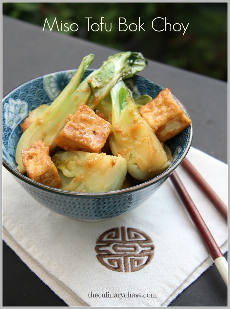 miso tofu bok choy by The Culinary Chase