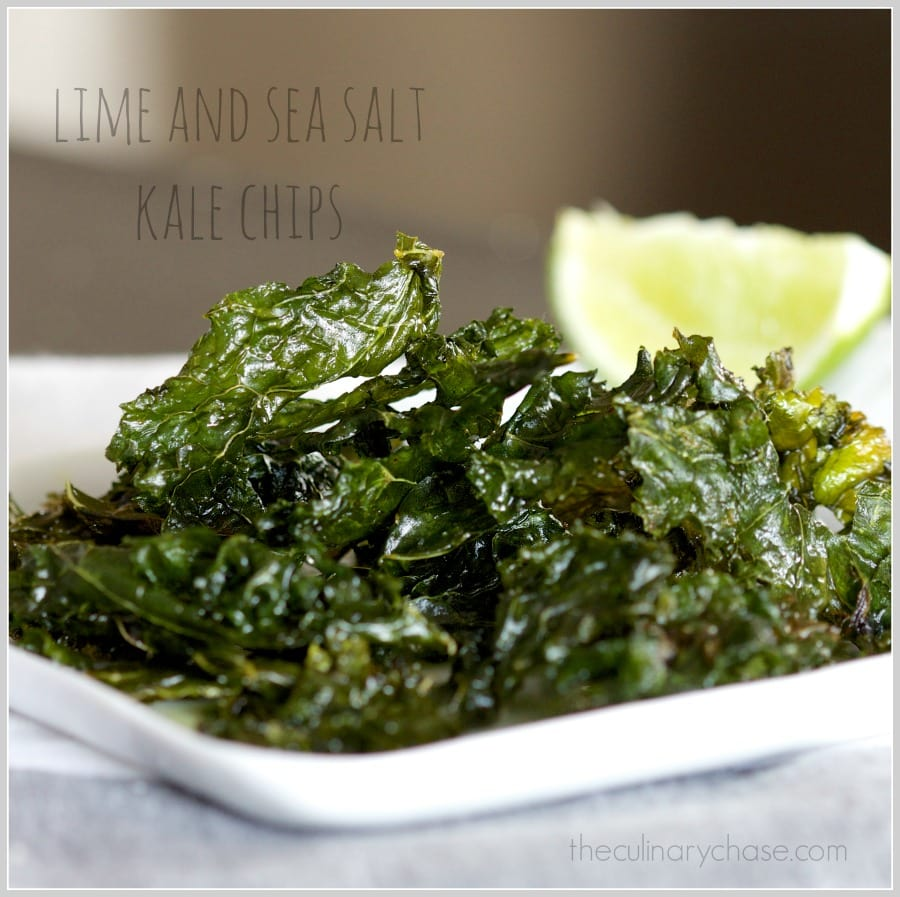 lime & sea salt kale chips by The Culinary Chase