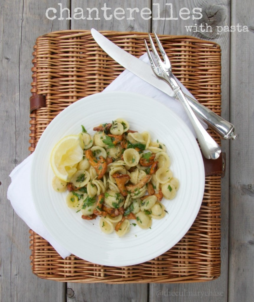 chanterelles with pasta