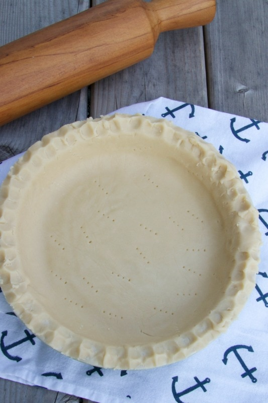 homemade pie shell