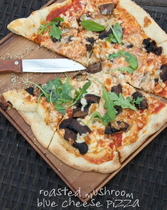 roasted mushroom & blue cheese pizza