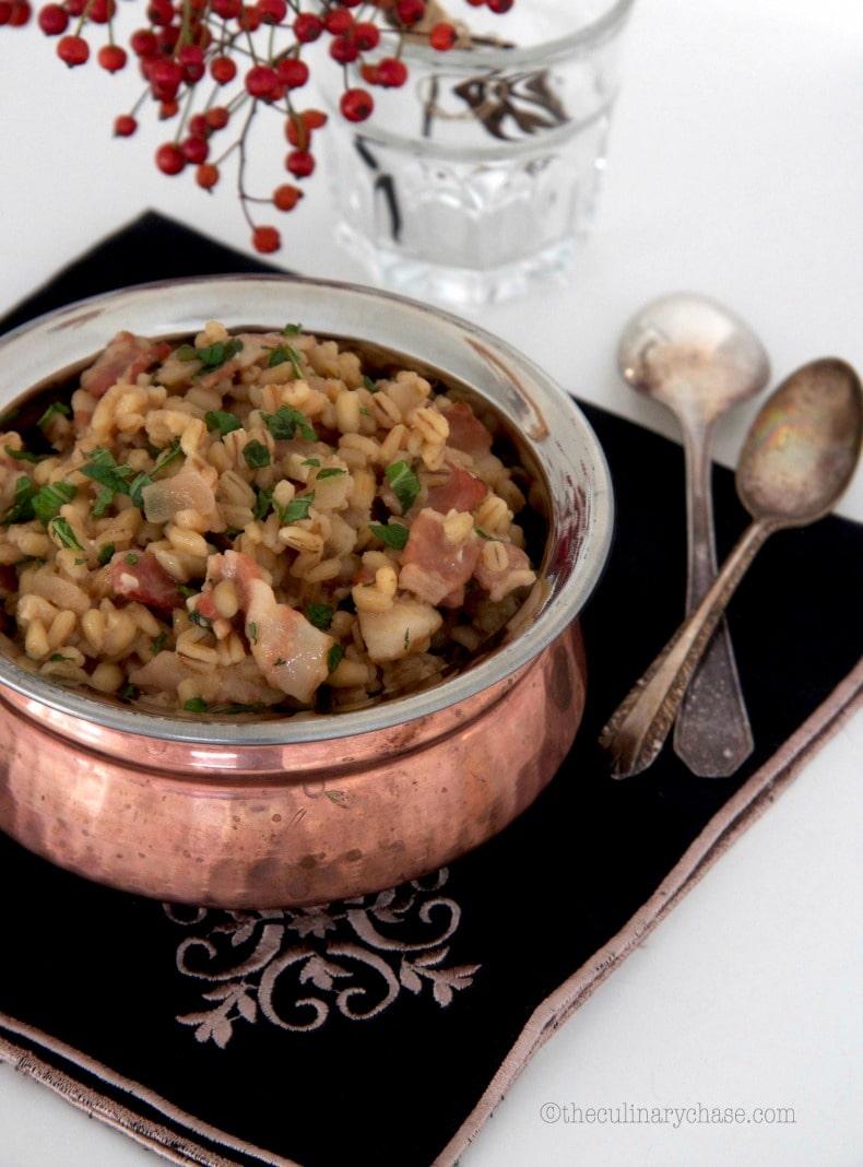 barley and bacon risotto
