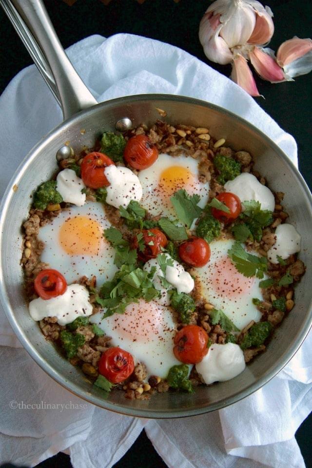 braised eggs & pork