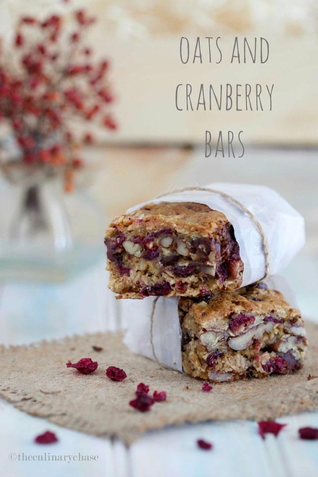 oats & cranberry bars