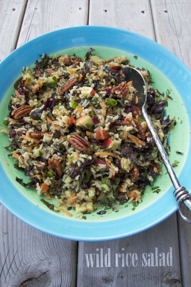 wild rice salad by The Culinary Chase