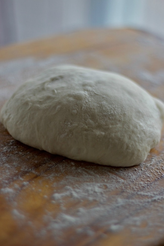 notice the pockets of air bubbles in the dough - light and airy