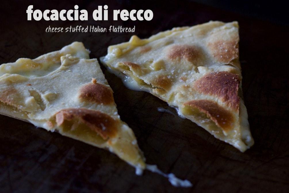 focaccia di recco (Italian flatbread)