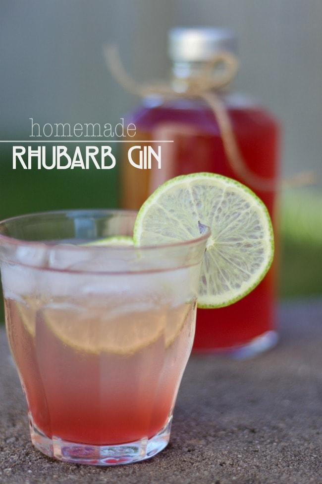 DIY rhubarb gin