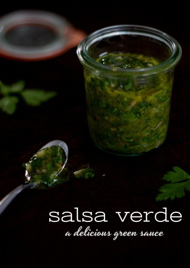 salsa verde - a delicious green sauce