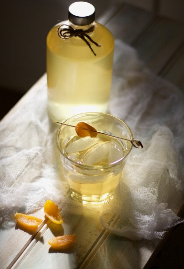 The Culinary Chase DIY kumquat-infused vodka