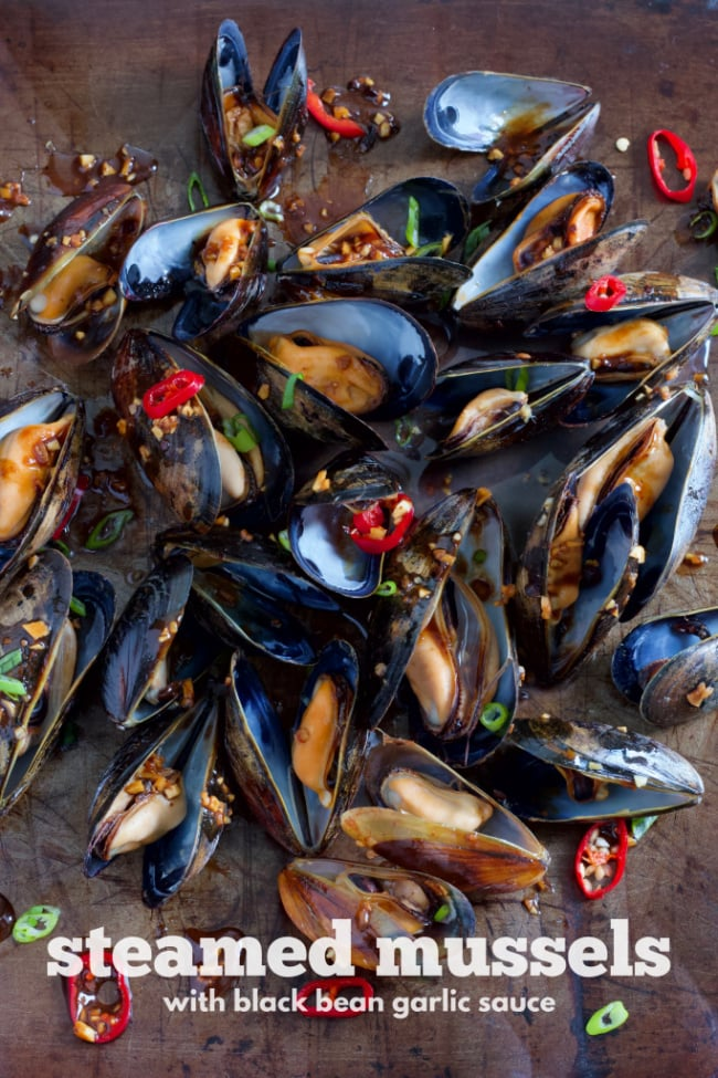 steamed mussels with black bean garlic sauce