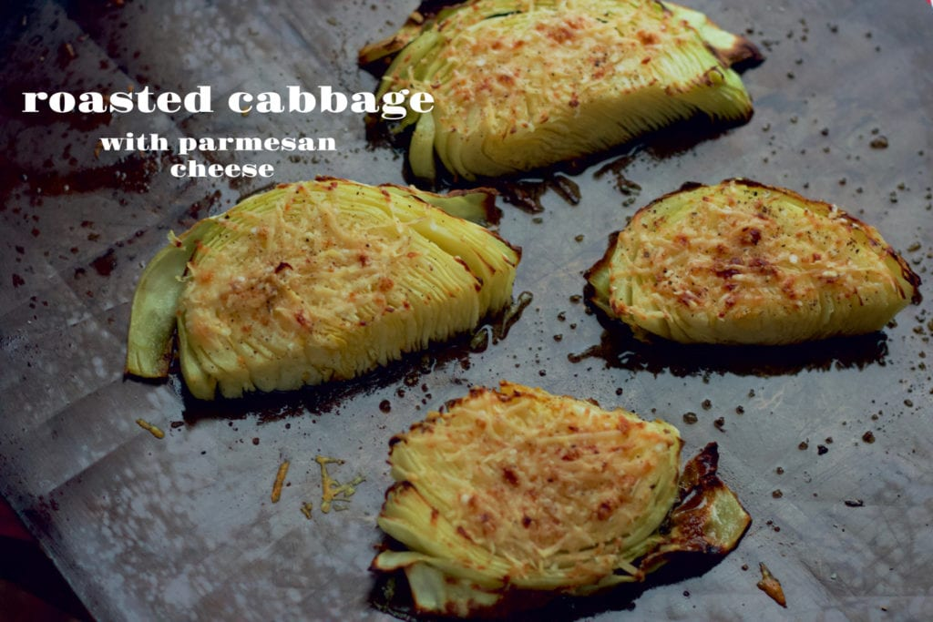 roasted cabbage with parmesan cheese