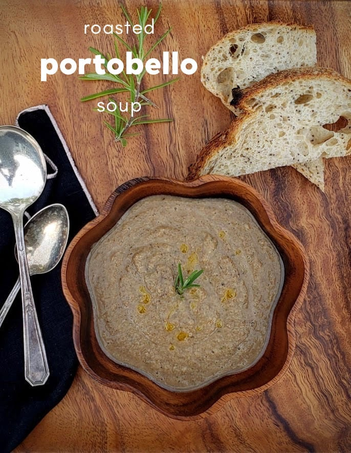 roasted portobello soup