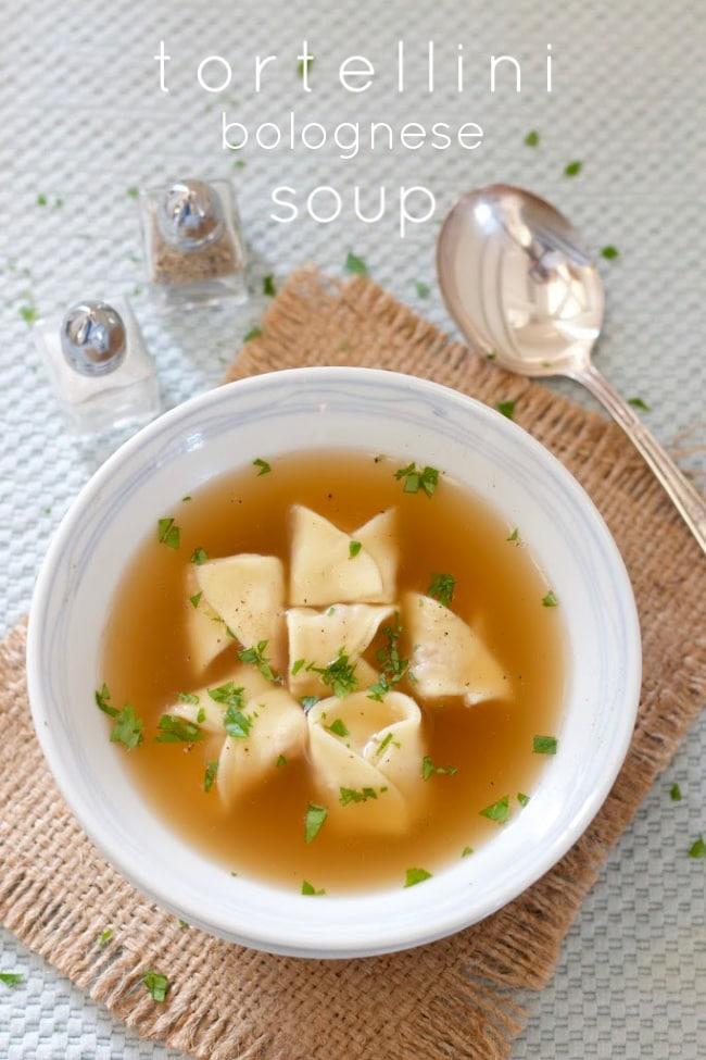 tortellini bolognese soup