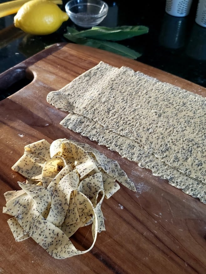 poppy seed pappardelle