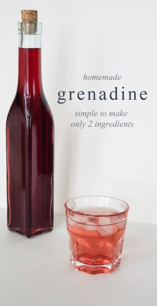 homemade grenadine