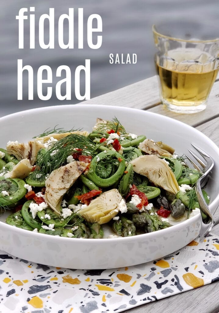 fiddlehead salad