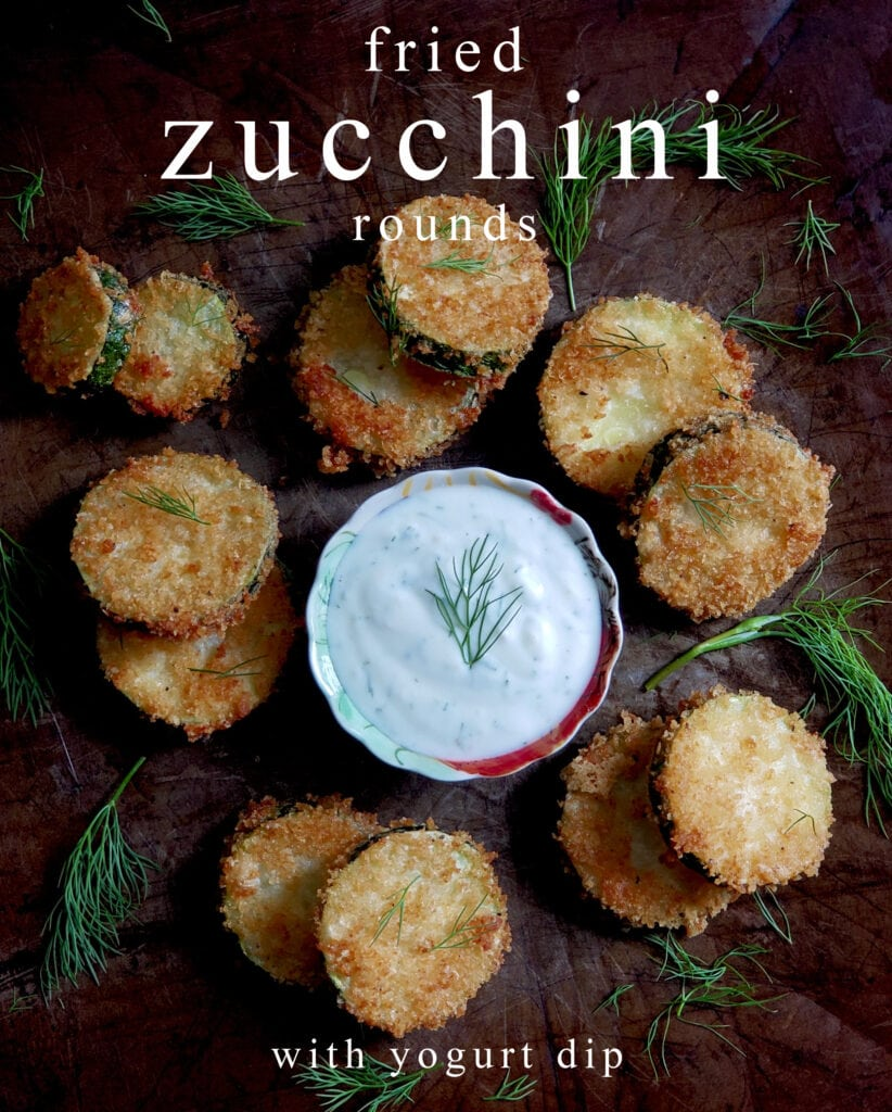 fried zucchini rounds