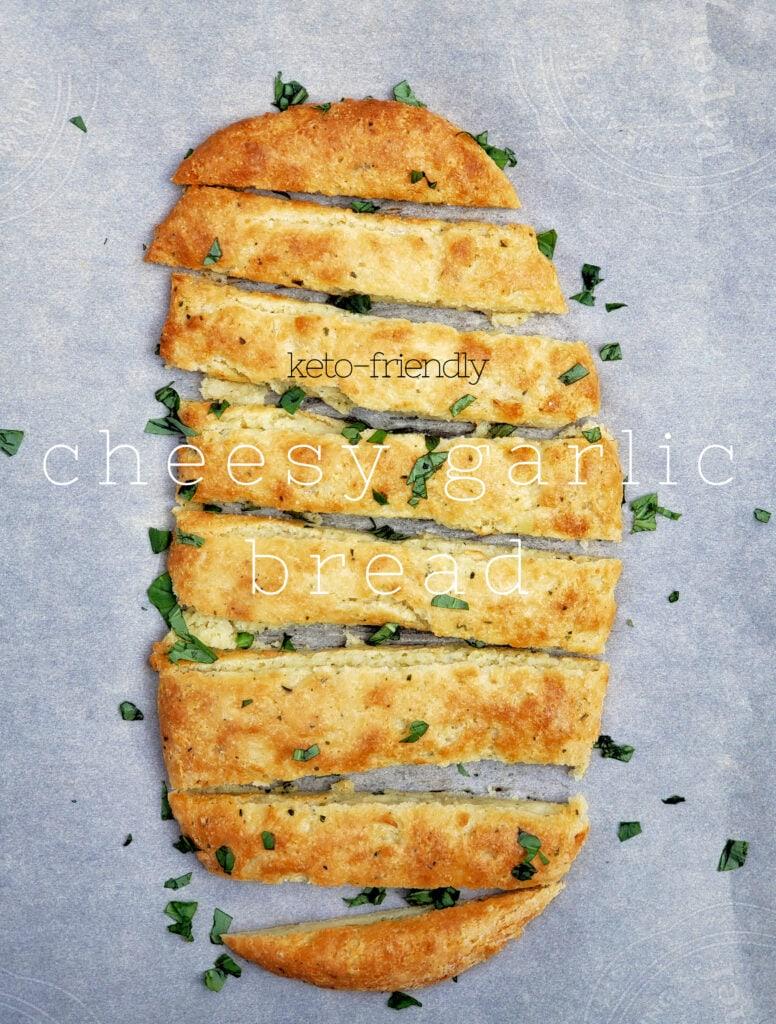 cheesy garlic bread - keto friendly