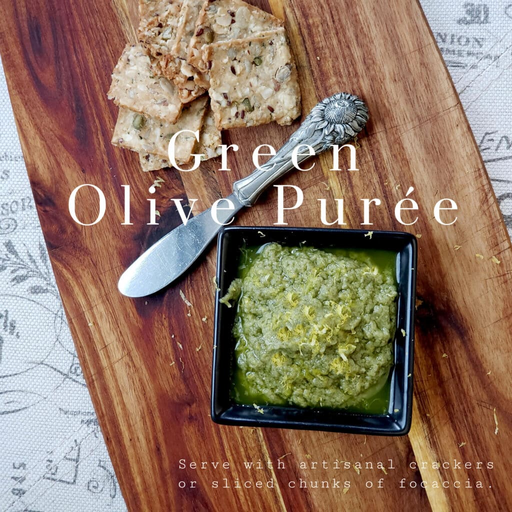 greenn olive purée