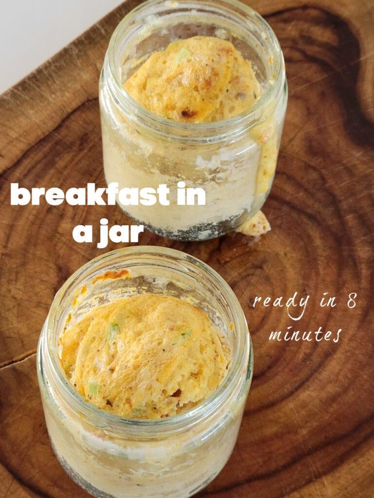 egg breakfast in a jar